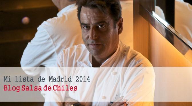 Mejores restaurantes de Madrid 2014 por Carlos Maribona
