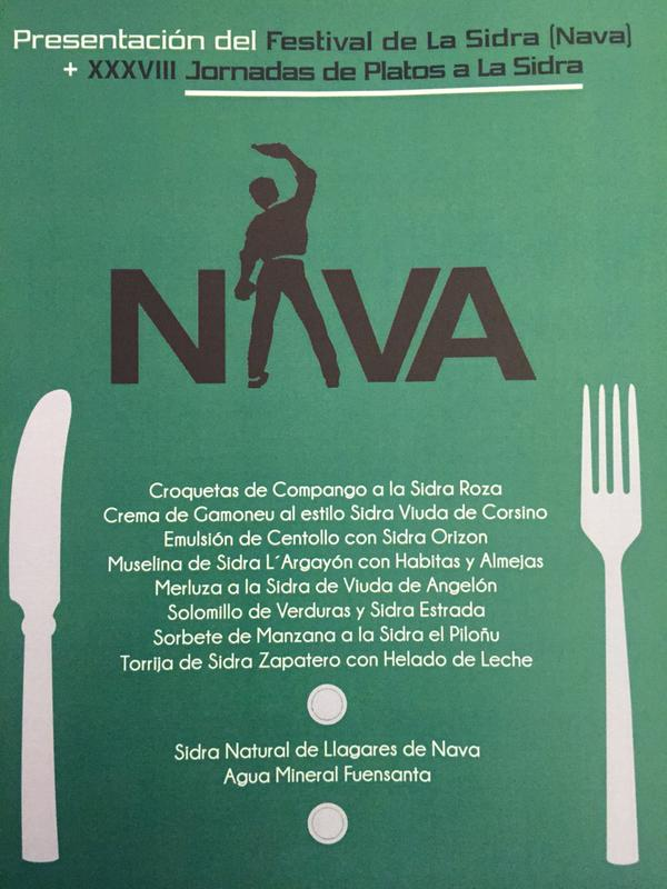 Presentación del XXXVIII Festival de la Sidra de Nava