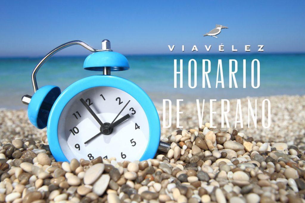 Horarios de verano en Viavélez Madrid