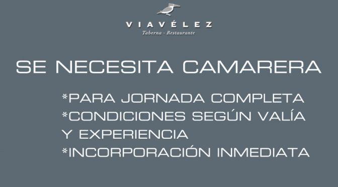 Oferta de empleo en restaurante Viavélez Madrid