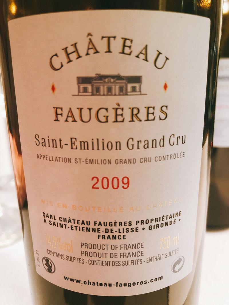 Los vinos de Chateau Faugeres en Viavélez